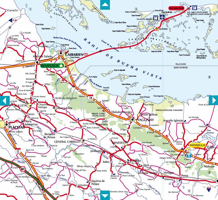 Cubamappa   Guia De Carreteras De Cuba  Road Map Of Cuba