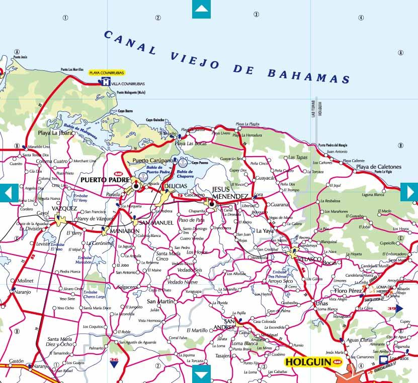 CubaMappa : Guia de carreteras de Cuba, Road Map of Cuba & Map of